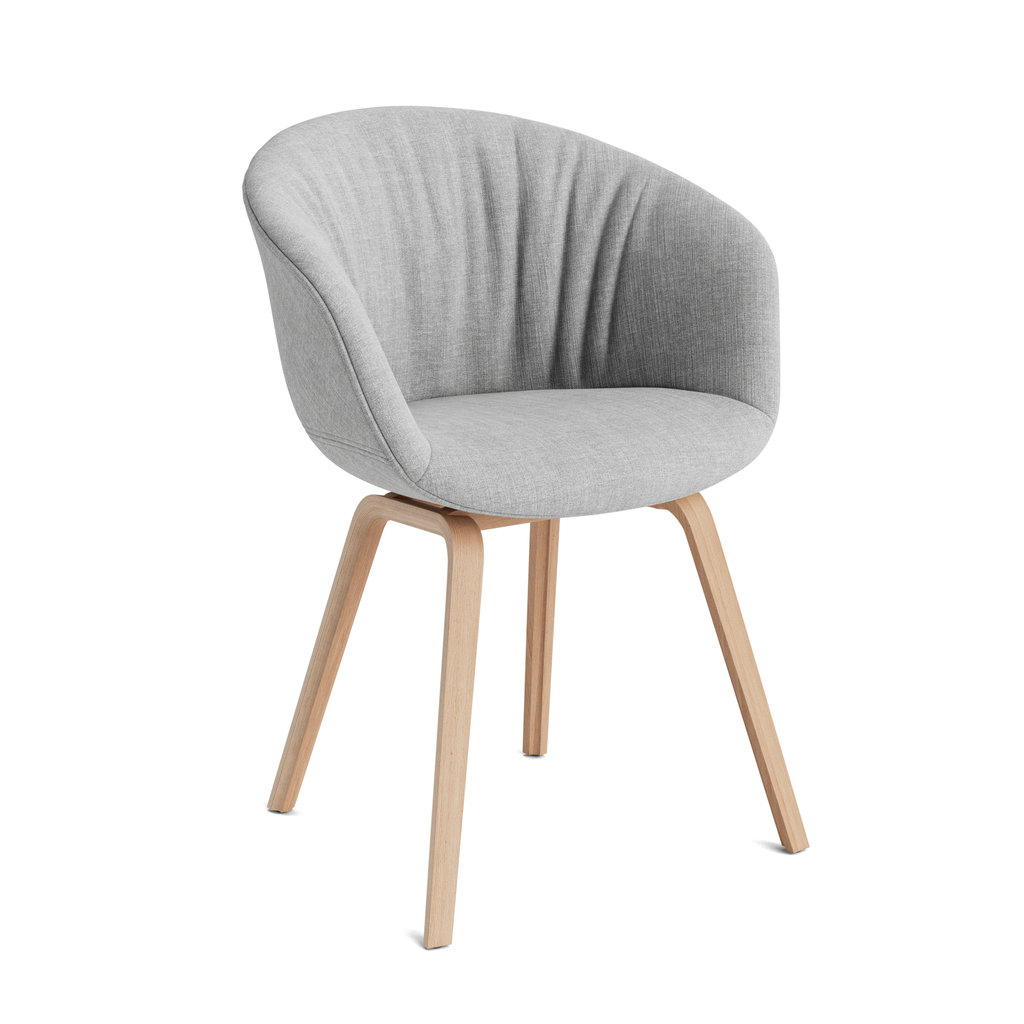 HAY AAC23 Soft Chair (About A Chair22) - Lacquered oak Re-wool/128 w. felt glider