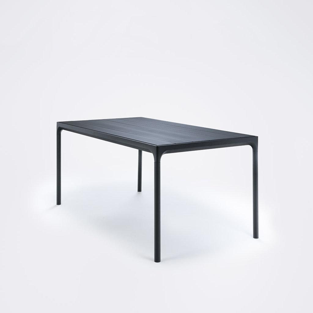 Houe FOUR Table 160 cm - Black Aluminum