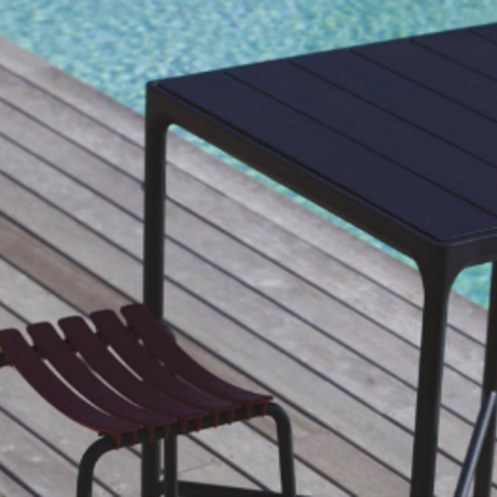 Houe FOUR Table 90 cm - Black Aluminum