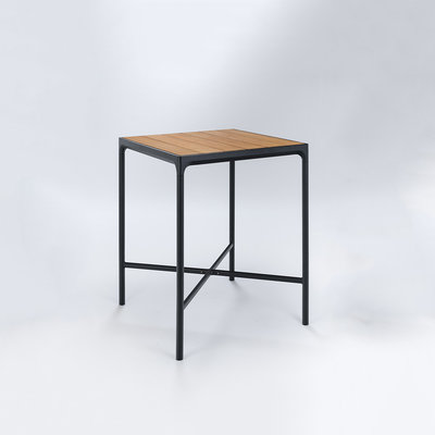 Houe FOUR Bar Table 90 cm - Table Top in Bamboo Black Frame