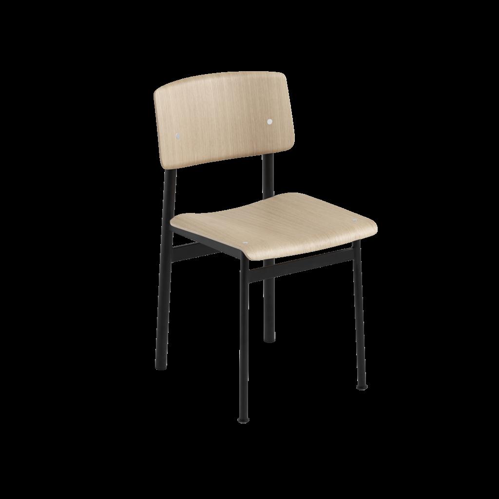 Muuto Loft Chair - Dusty Black/Oak