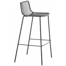 Pedrali Barstool NOLITA 3657, seat height 650mm, sage green powder coated for outdoor (VE100)