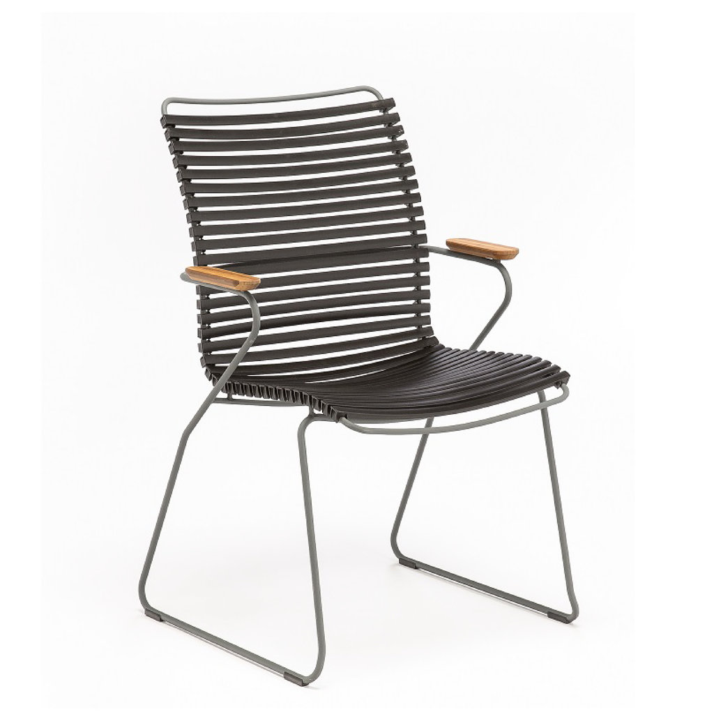 Houe CLICK Dining Chair Tall with Armrests in bamboo Black
