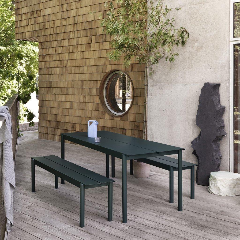 Muuto Linear Steel Table Black 200x75cm