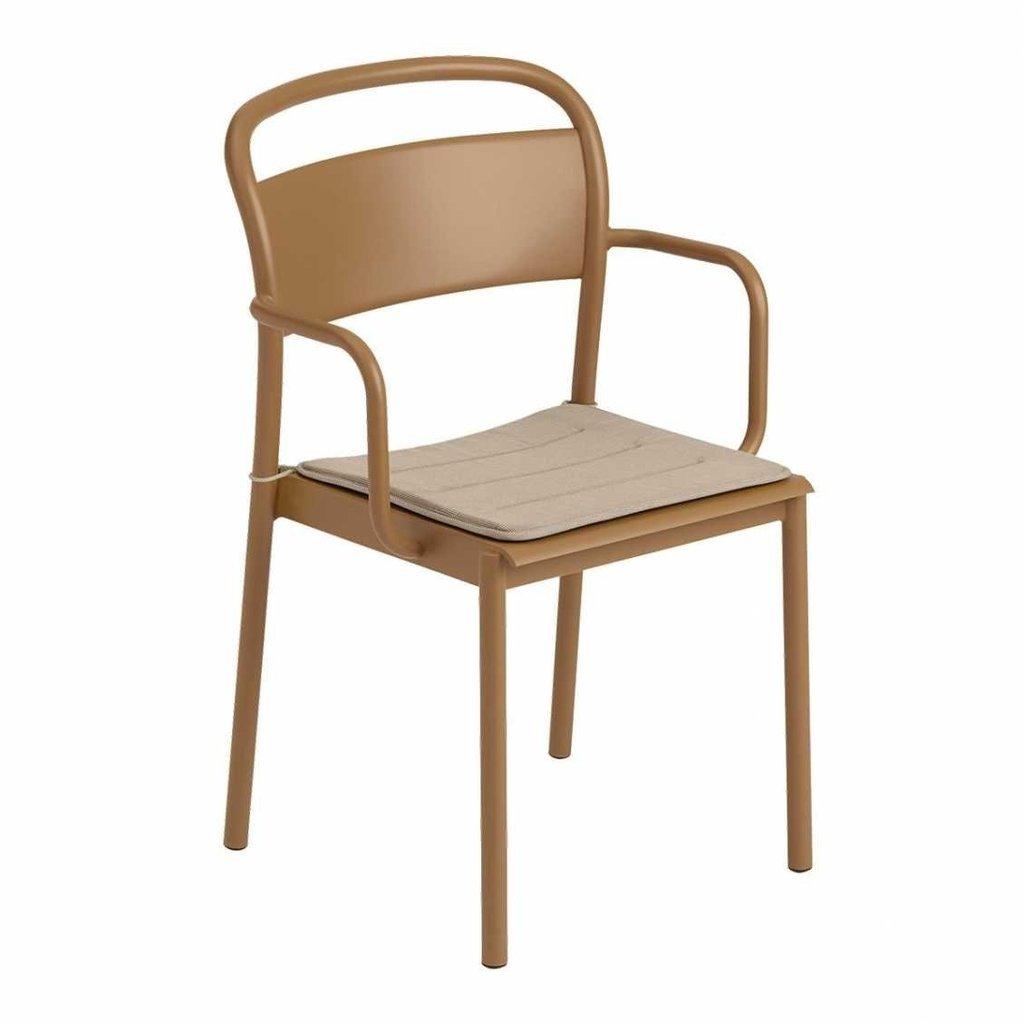 Muuto Linear Steel Chair Seat Pad - Grey