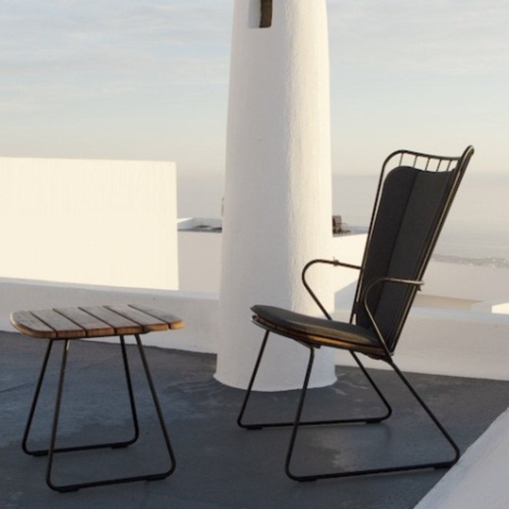 Houe PAON Cushion Dining Chair, Carbon Grey