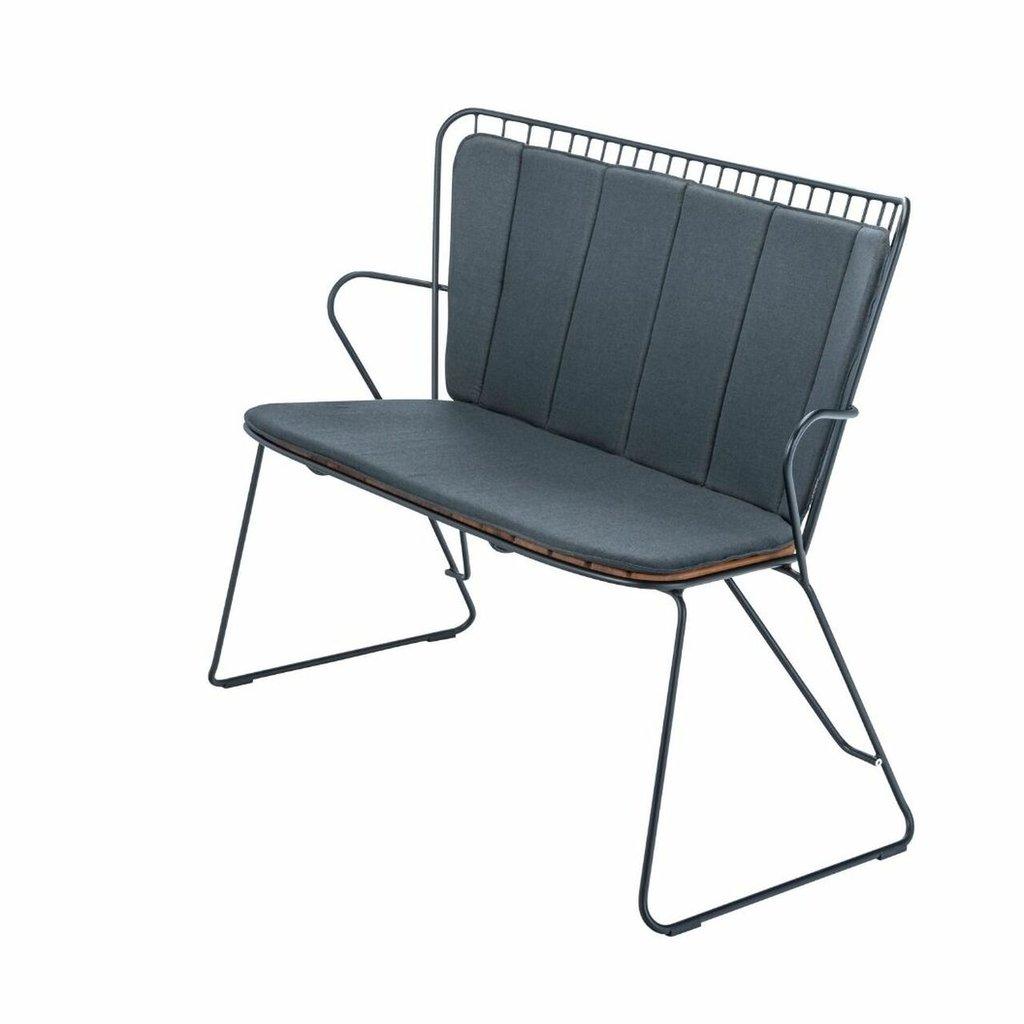 Houe PAON Cushion Bench, Carbon Grey