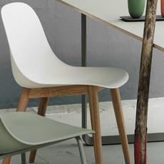 Muuto Fiber Side Chair Wood White/Oak