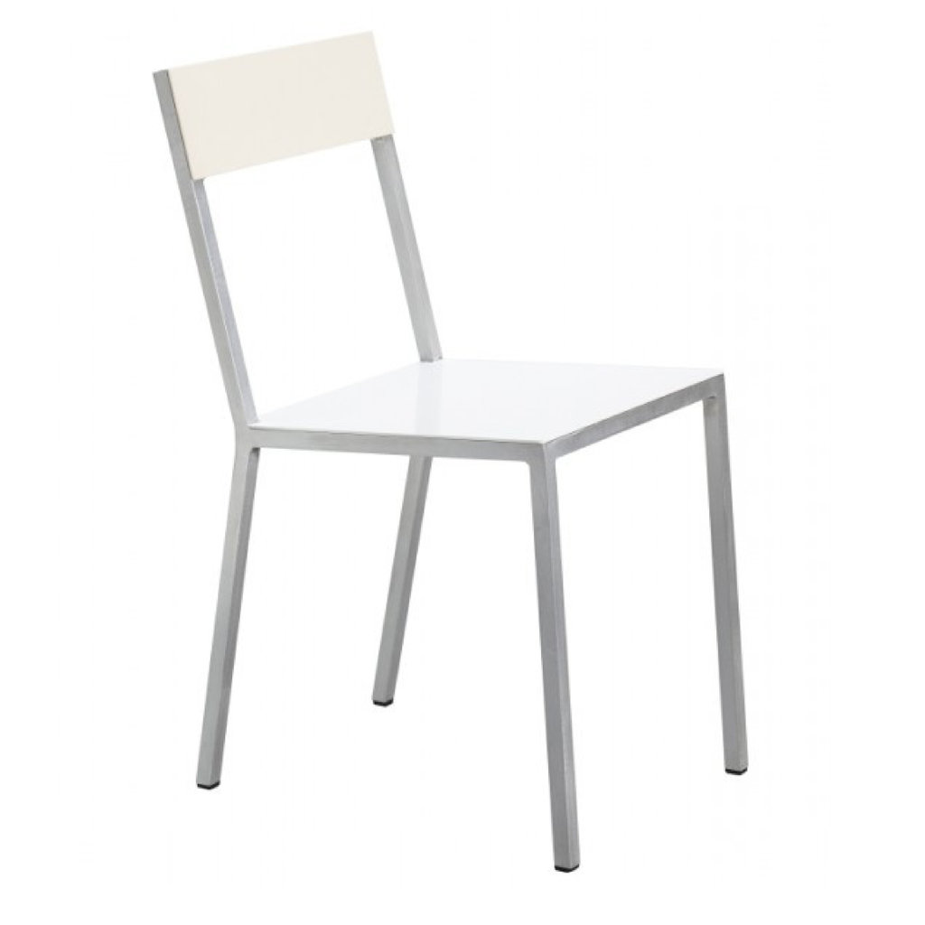Valerie Objects ALU CHAIR 52,5X38 H80 WHITE SEAT /IVORY BACK