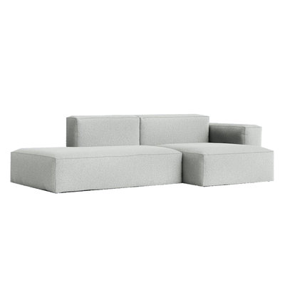 HAY Mags Soft 2,5 seater - Ruskin/33 Stitch Colour beige combination 3 Low armrest