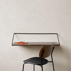 MENU Rail Desk, Black Steel, Dark Stained Oak