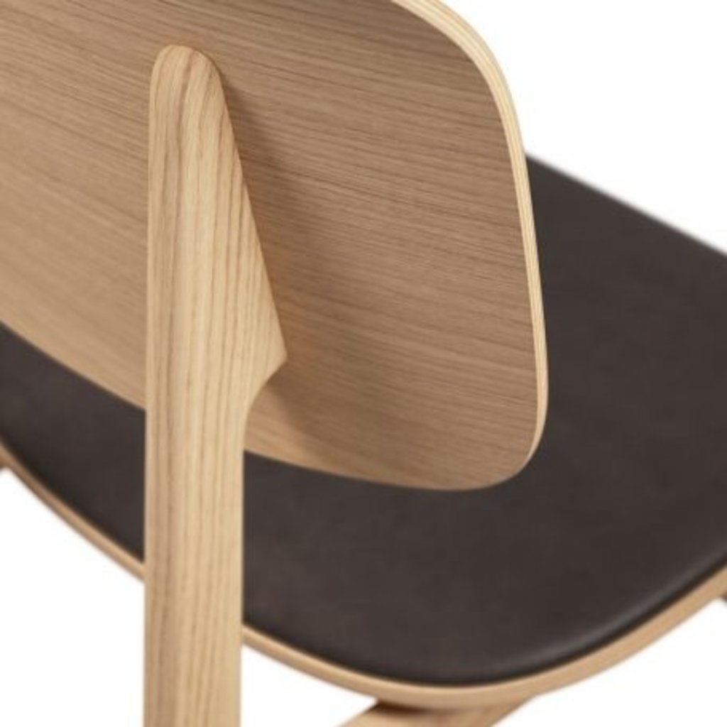Norr11 NY11 Dining Chair, Natural Frame - Premium Leather
