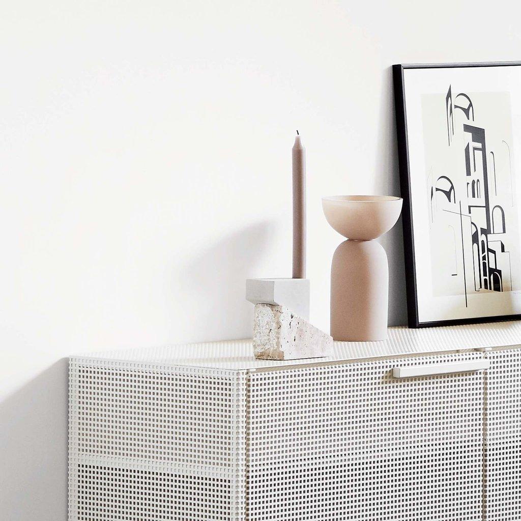 Kristina Dam Offset Candleholder Vol. 1 - Sandstone & Travertine