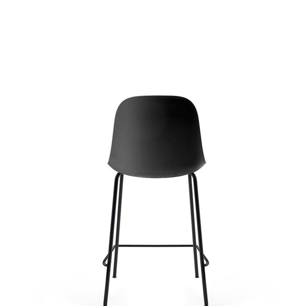 MENU Harbour Side Counter Chair, Black Steel Base Black Shell