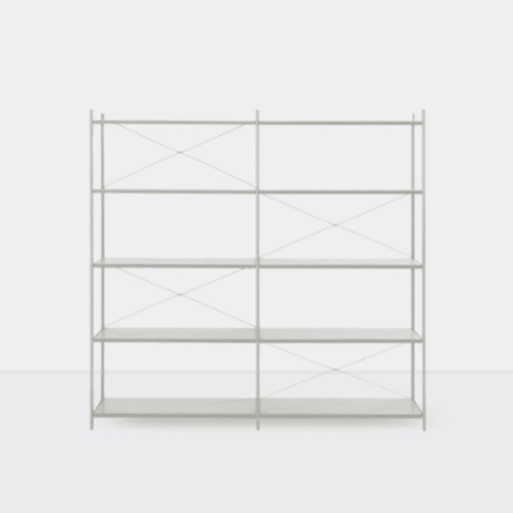 Ferm Living Punctual Shelving System -Grey-2x5