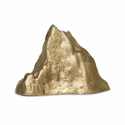 Ferm Living Stone Candle Holder - Large - Brass