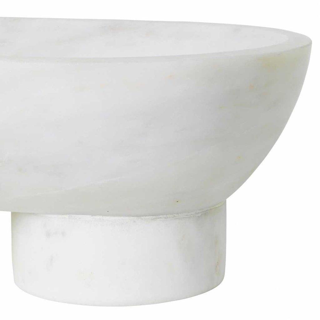 Ferm Living Alza Bowl - White Indian Banswara Marble