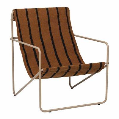 Ferm Living Desert Lounge Chair - Cashmere/Stripe
