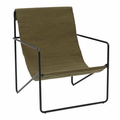 Ferm Living Desert Lounge Chair - Black/Olive