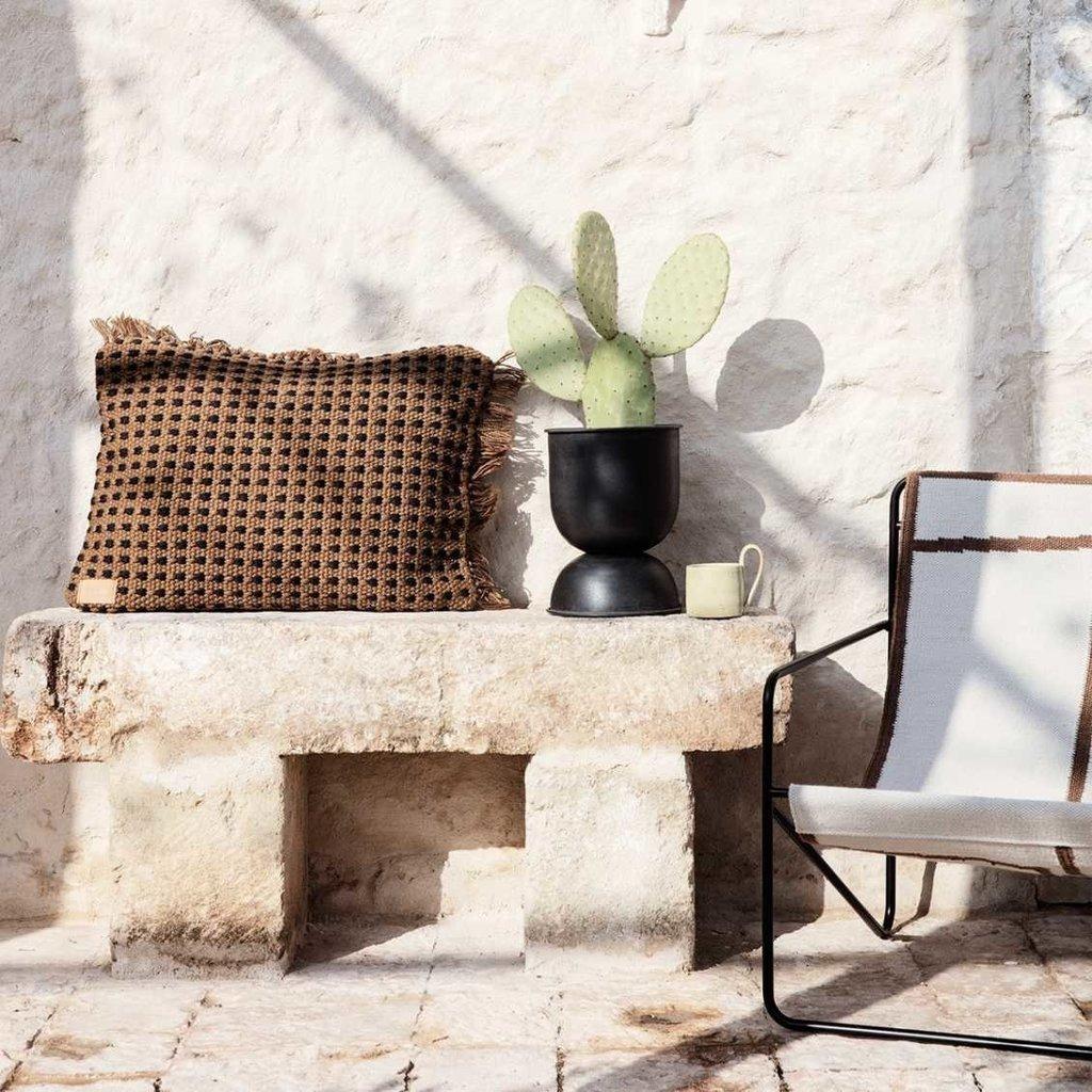 Ferm Living Desert Lounge Chair - Cashmere/Olive