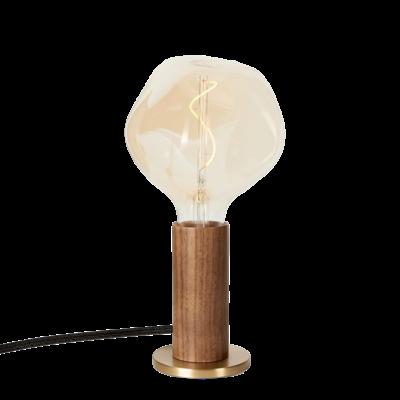 TALA Walnut Knuckle Table Lamp with Voronoi I Bulb