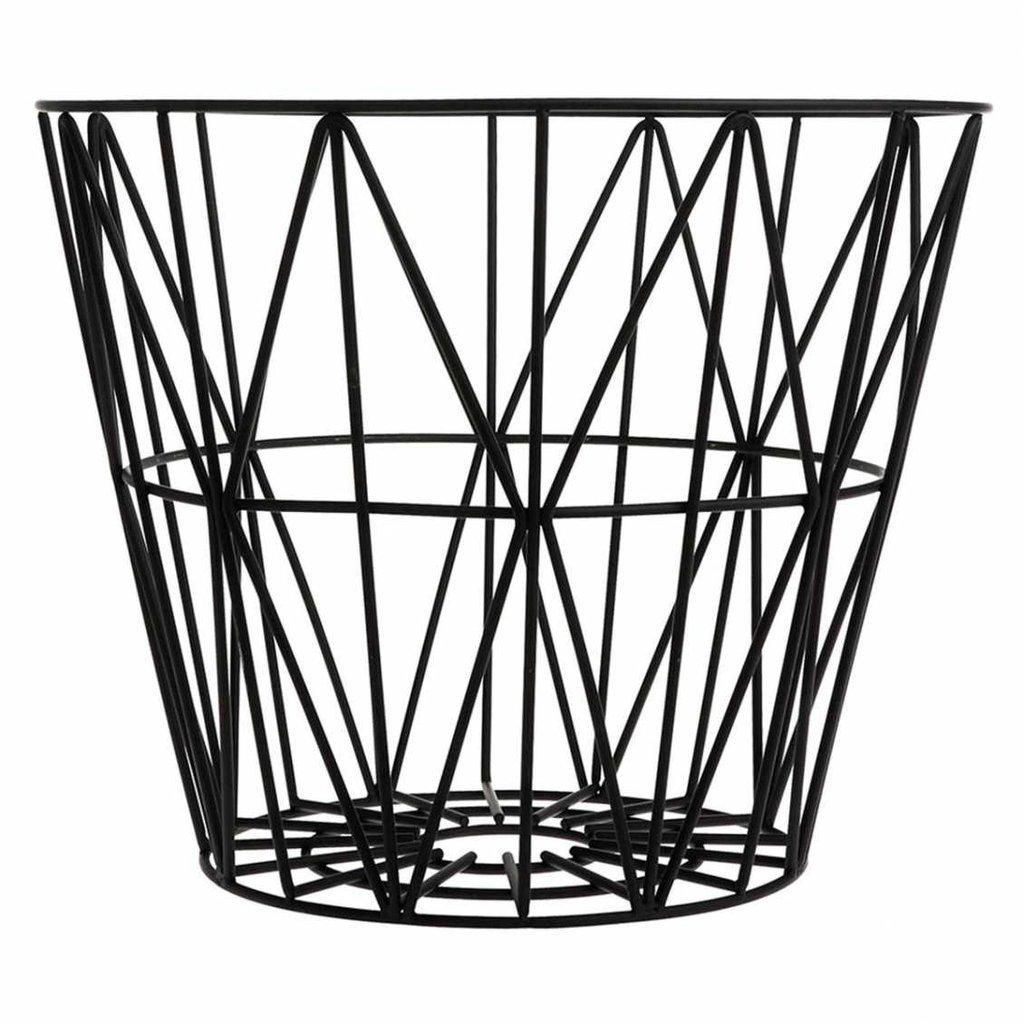 Ferm Living Wire Basket - Black - Medium