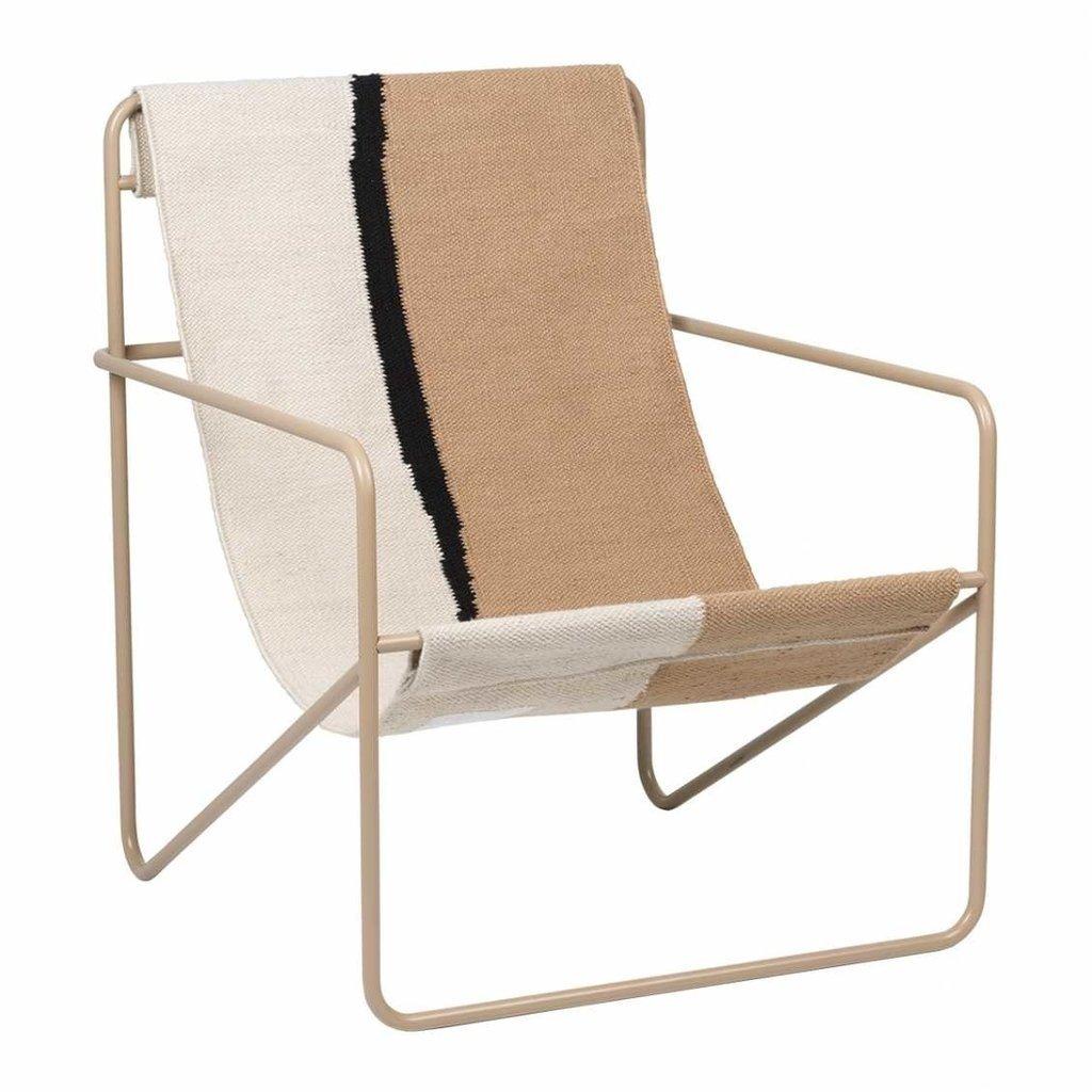 Ferm Living Desert Lounge Chair - Cashmere/Soil - SHOWROOM MODEL