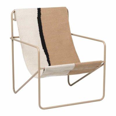 Ferm Living Desert Lounge Chair - Cashmere/Soil