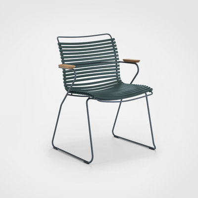 Houe Click Dining Chair with armrests Pine Green - SHOWROOM MODEL