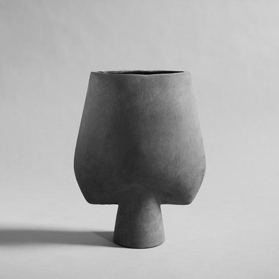 101 CPH Sphere Vase Square, Big - Dark Grey