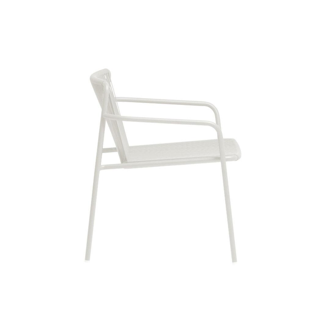 Pedrali Armchair TRIBECA LOUNGE 3669, white BI200E - SHOWROOM MODEL