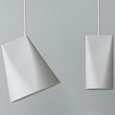Moebe Ceramic Pendant - Wide - White