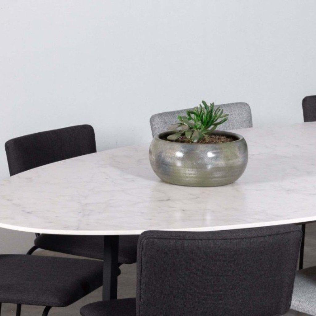 Unit14 Cyriel Ovale eettafel - keramiek Carrara - SHOWROOM MODEL