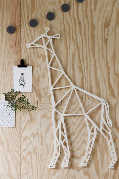 Giraffe wanddecoratie