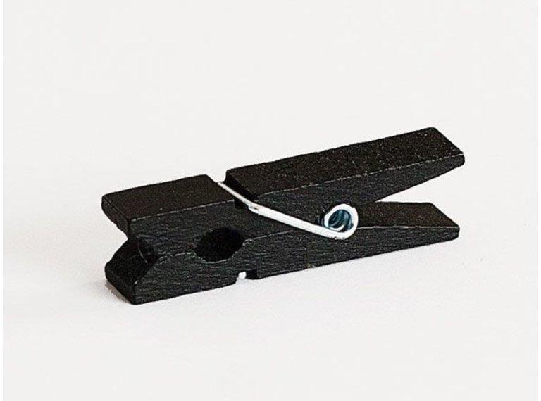 Houten knijper zwart (10 stuks)