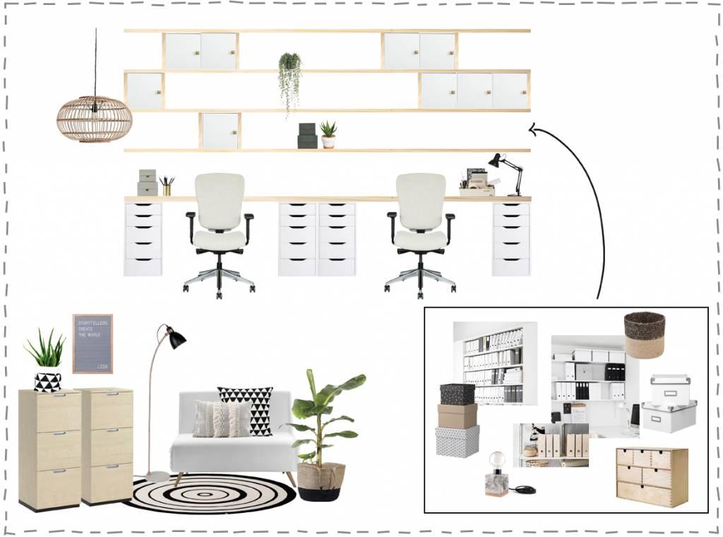 Werkkamer in Scandinavische stijl