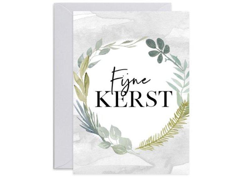 Wonen voor jou Kaart Fijne Kerst met envelop