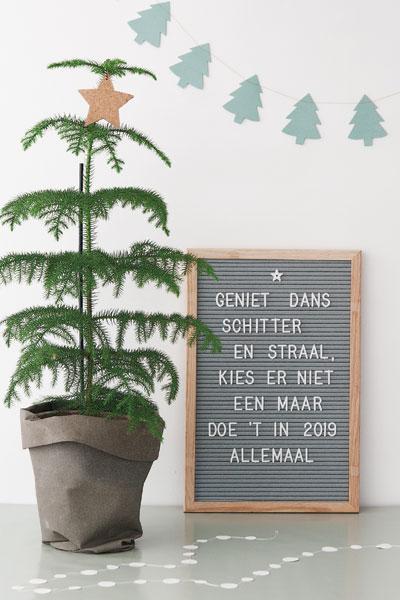 Kerstdecoratie kamerden letterbord slinger