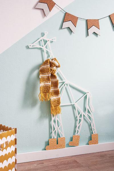 Wanddecoratie kinderkamer giraffe winter