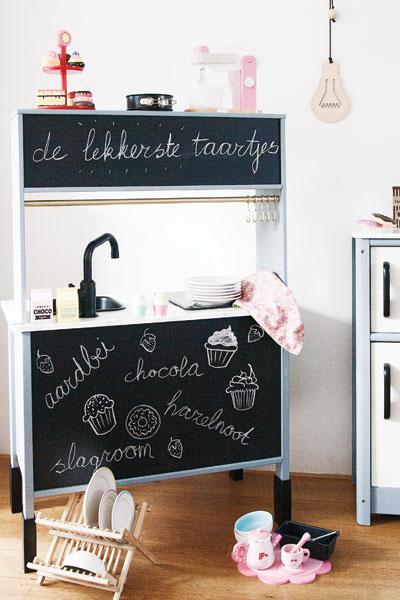 Ikea keukentje duktig pimpen achterkant