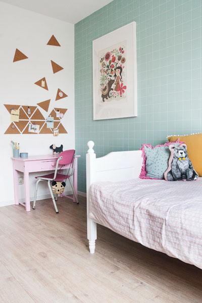 Meisjeskamer mint roze