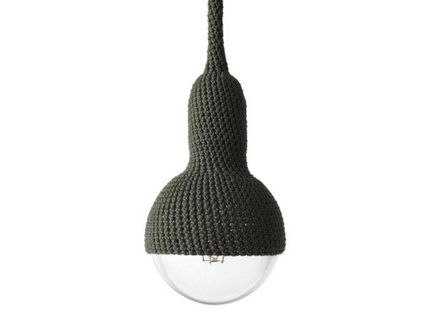 Gehaakte lamp olive