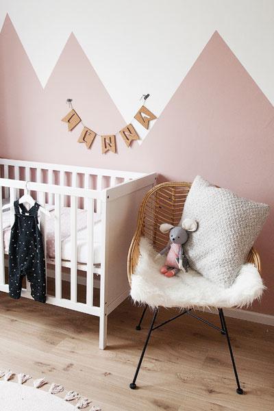 Babykamer oudroze