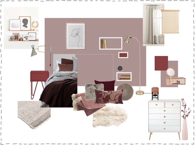 Slaapkamer met warme kleuren