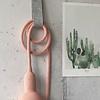 Et aussi Gehaakte lamp poudre roze