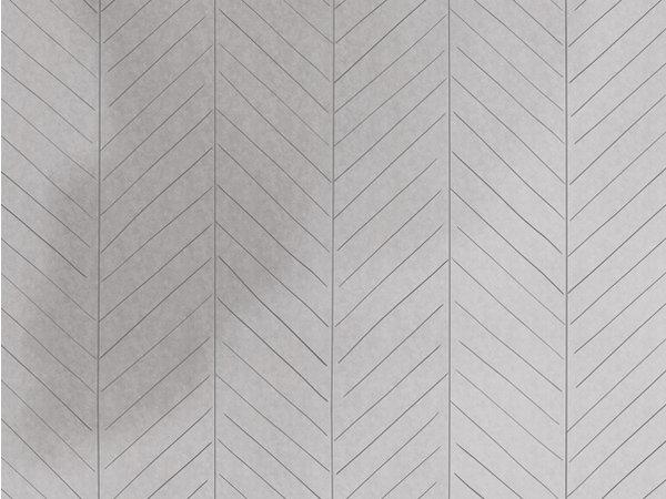 Behang visgraat grijs