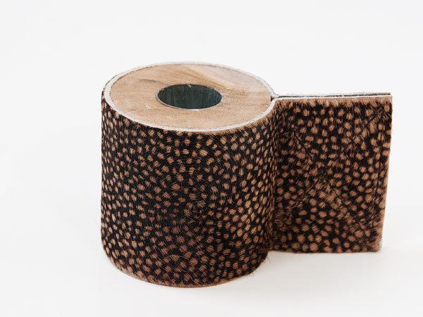 Kandelaar leer - hout
