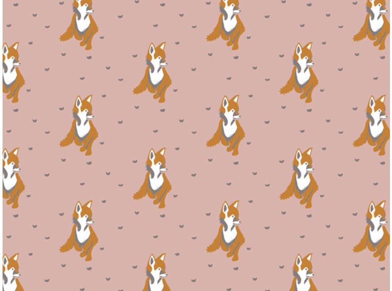 Wonen voor jou Behang vosjes roze/bruin