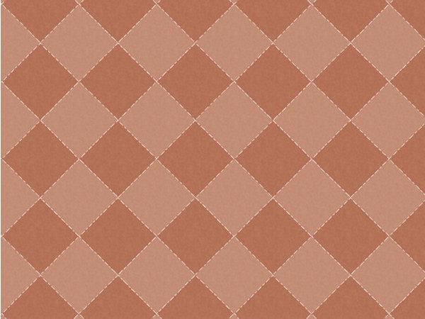 Behang grid roestbruin