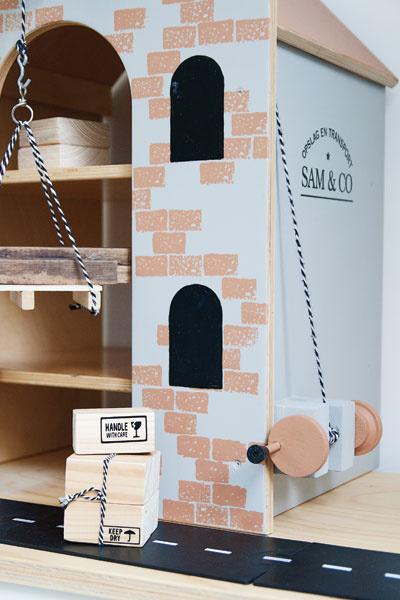 DIY pakhuis Sam detail